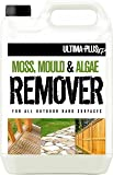 5L of Ultima-Plus XP Moss, Mould & Algae Killer - For All Outdoor Hard Surfaces Including Patio, Fencing & Decking - Most Powerful On The Market - 100% More Active Ingredient Than Other Brands