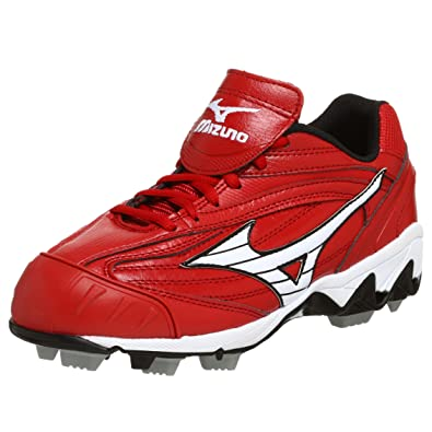 separation shoes 7c7be 9b1cc Mizuno Women s 9-Spike Finch Low G3 Cleat,Red White,5.5 M