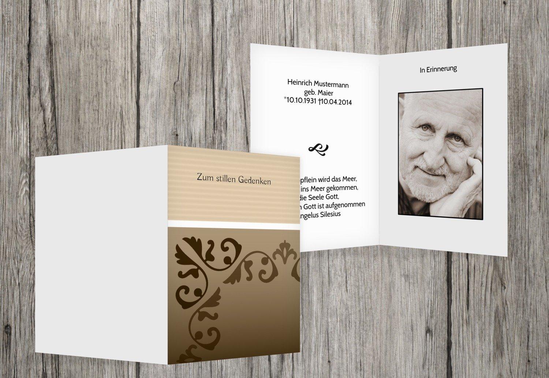 sterbe imágenes Papel de carta, beige, 90 Karten