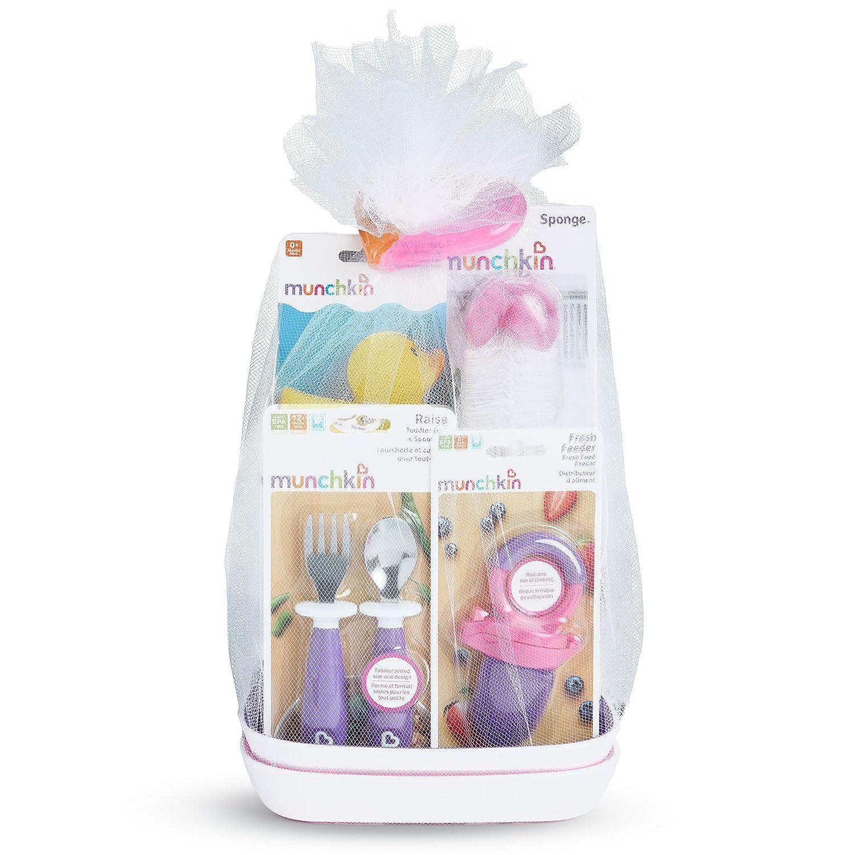 Munchkin New Beginnings Gift Basket, Pink
