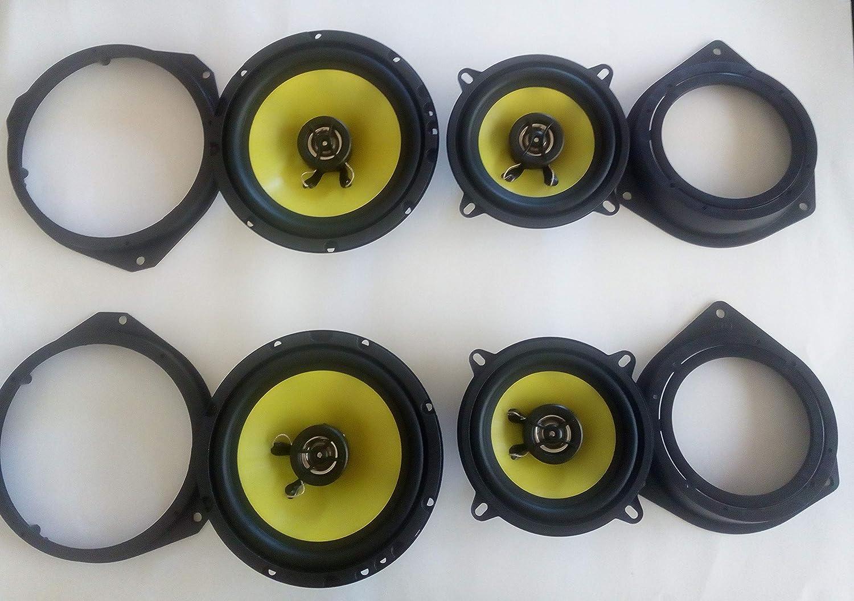 GENERALCAR Kit 2 Haut-parleurs antenne Supports de Haut-parleurs et Support autoradio pour Fiat Panda mod/èle ant/érieur /à 2002