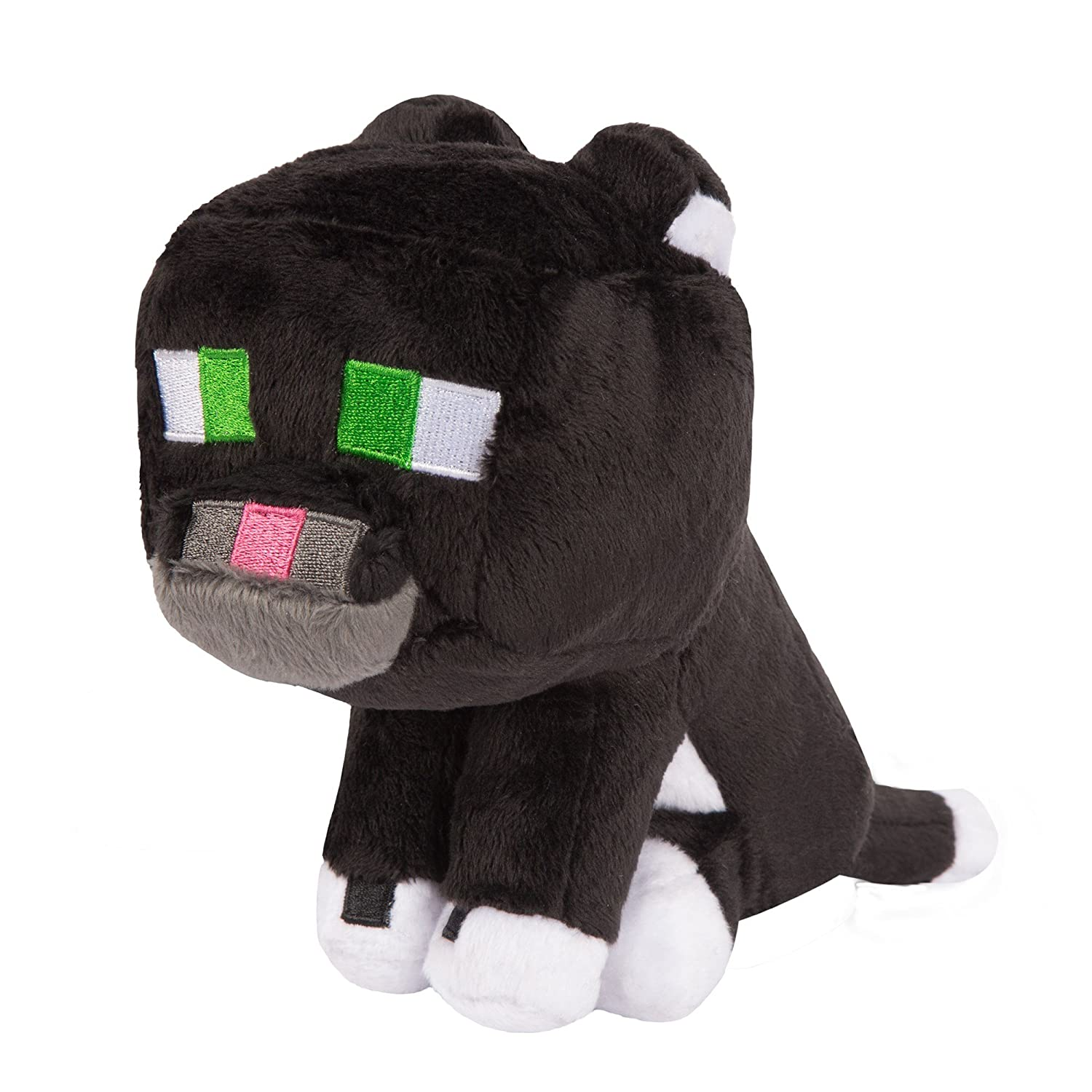 JINX Minecraft Tuxedo Cat Plush Stuffed Toy (Multi-Color, 8 Tall) 8 Tall) 6363