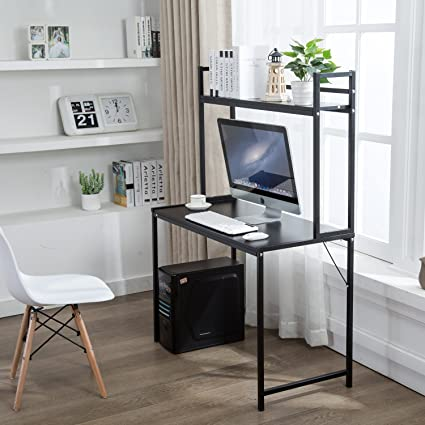 Exceptionnel Office Desktop Laptop Computer Compact Desk With Storage, Home Study  Writing Table With Shelf (