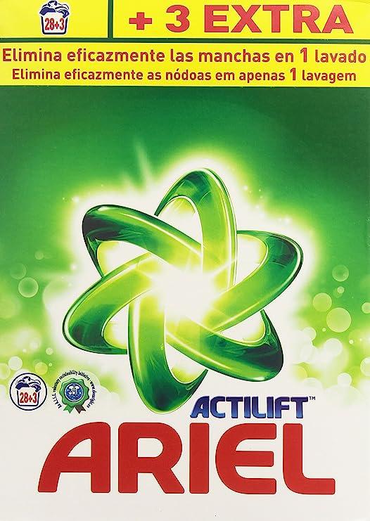 Ariel Actilift - Detergente para lavadora, 28+3 cazos, 2.015 kg ...
