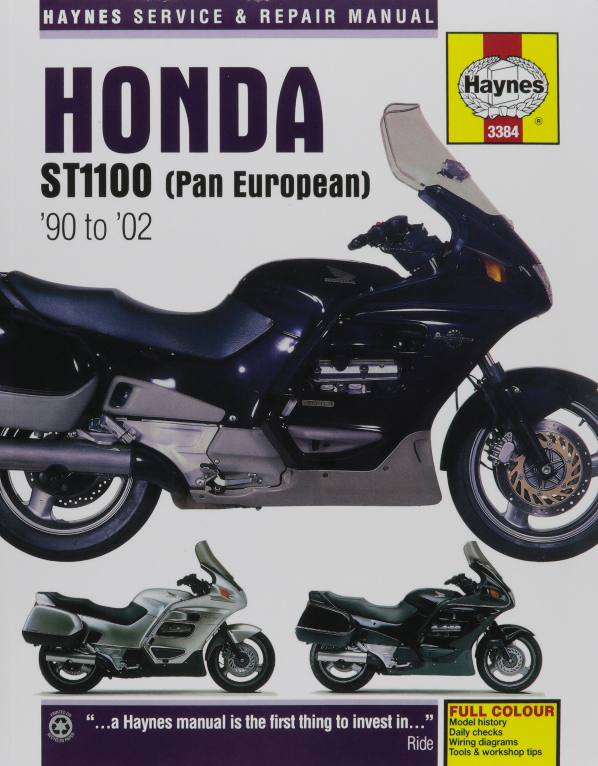Honda ST1100 (Pan European) '90 to '02 (Haynes Service & Repair Manual):  Editors Haynes: 9781785212949: Amazon.com: Books