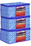 Porchex Presents Non Woven Saree Cover Storage Bags for Clothes with primum Quality Combo Offer Saree Organizer for Wardrobe/Organizers for Clothes/Organizers for Wardrobe Pack of 3 (Pack of 3)