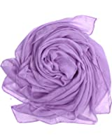 Bear Motion Large Chiffon Scarf & Wrap in Solid Color