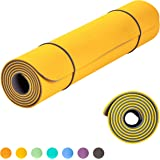 KeenFlex Yoga Mat Extremely Comfortable Non Slip Extra Long 6mm Thick SGS Certified Eco Friendly for Home Exercise Pilates Fitness Gym Workout Sport + Free Carry Strap