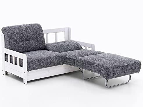 schlafsofa campus grau wei stoff sofa couch massiv holz schlafcouch bettfunktion - Sofacouch Mit Schlafcouch