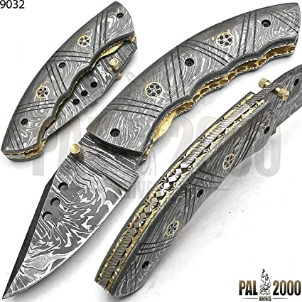 Cuchillo plegable, navaja de bolsillo, cuchillo hecho a mano ...