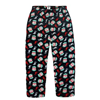 Liverpool FC Official Football Gift Mens Lounge Pants Pyjama Bottoms Black Small
