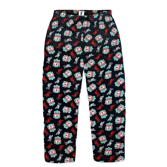 Liverpool F. C. - Pantalones largos de pijama para hombre, diseño de equipo