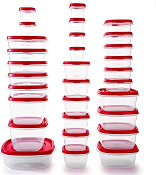 60-Pieces Rubbermaid BPA Free Plastic Food Storage Containers