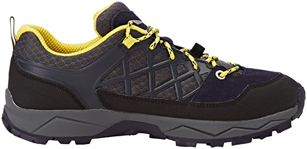 Salewa Jr Wildfire, Chaussures de Randonnée Basses Mixte Enfant, Bleu (Premium Navy/Yellow 3987), 35 EU