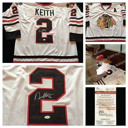 d34f103f3 Duncan Keith Chicago Blackhawks Signed Autograph White Hockey Jersey  2.  JSA COA