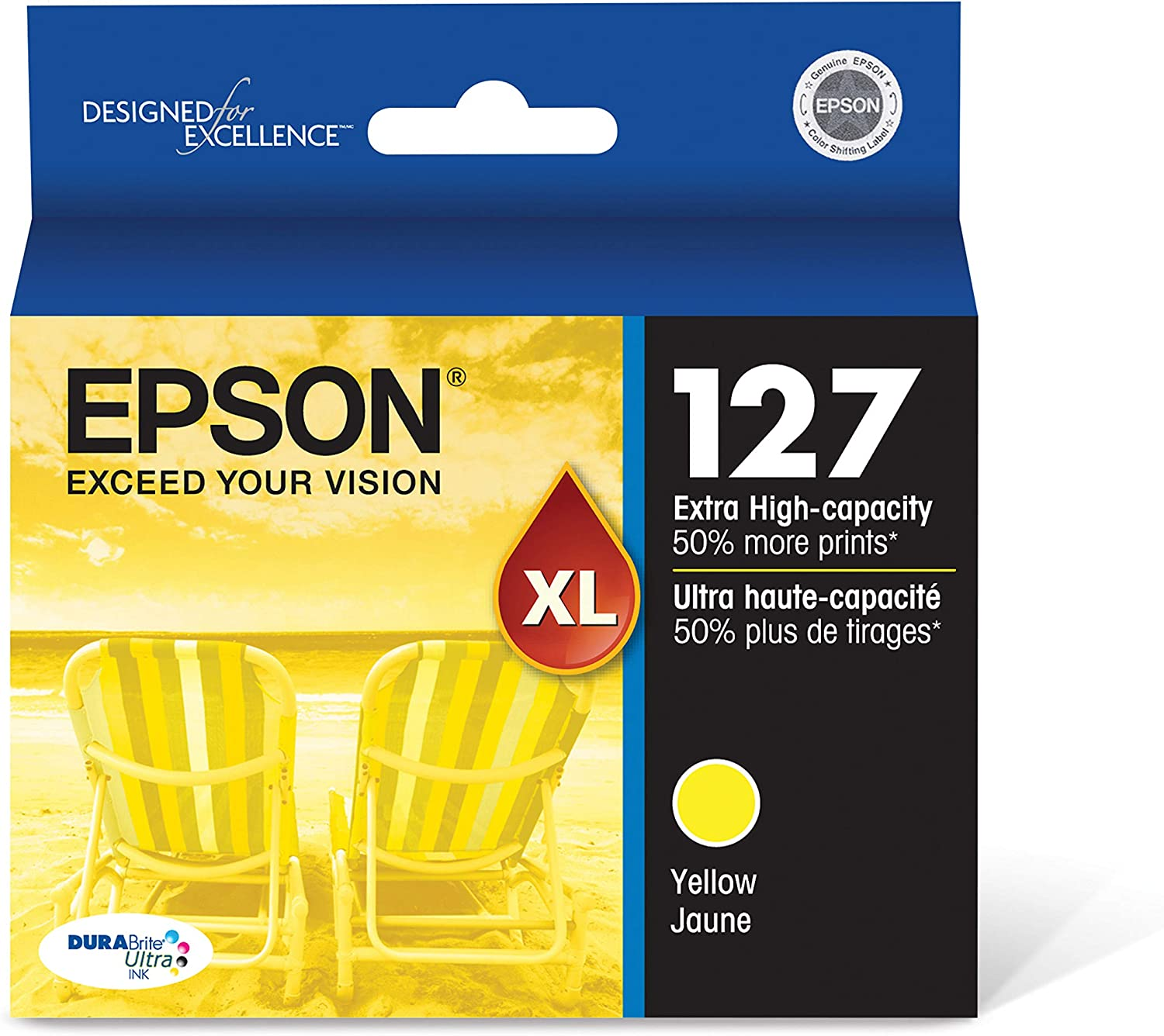 Epson DURABrite Ultra 127 Extra High-capacity Inkjet Cartridge Yellow T127420
