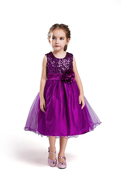 ELSA & ANNA® Princesa Disfraz Traje Parte Las Niñas Vestido de Fiesta de Boda Vestido de Navidad ES-PPL-PDS04