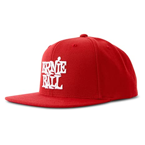 Amazon.com  Ernie Ball Red with White Stacked Ernie Ball Logo Hat  Musical  Instruments 55be28617489