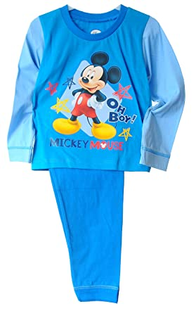 Blauer Schlafanzug Pyjama Einteiler  für Jungen 62//68 74//80 NEU