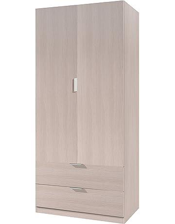 Habitdesign 00X222R - Armario ropero de 2 Puertas, Mueble Armario con 2 cajones, Color