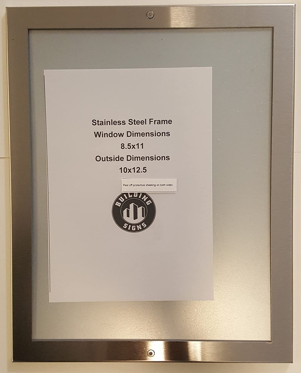 ELEVATOR PICTURE FRAME 8.5X11 stainless Steel: Amazon.com ...