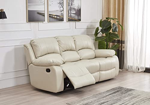 Betsy Furniture Bonded Leather Reclining Sofa Loveseat Glider Chair