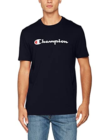 fb9eb5e8 Champion Men Crewneck Institutionals T-Shirt: Amazon.co.uk: Clothing