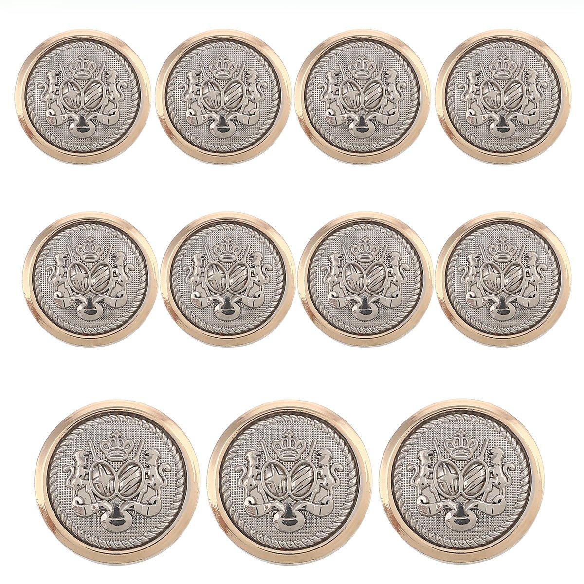 YaHoGa 14pcs Gold Blazer Buttons for Mens Suits Blazers Sport Coats 20mm 15mm Metal Shank Suit Buttons Set for Sewing Coats Suits Blazers MB20080