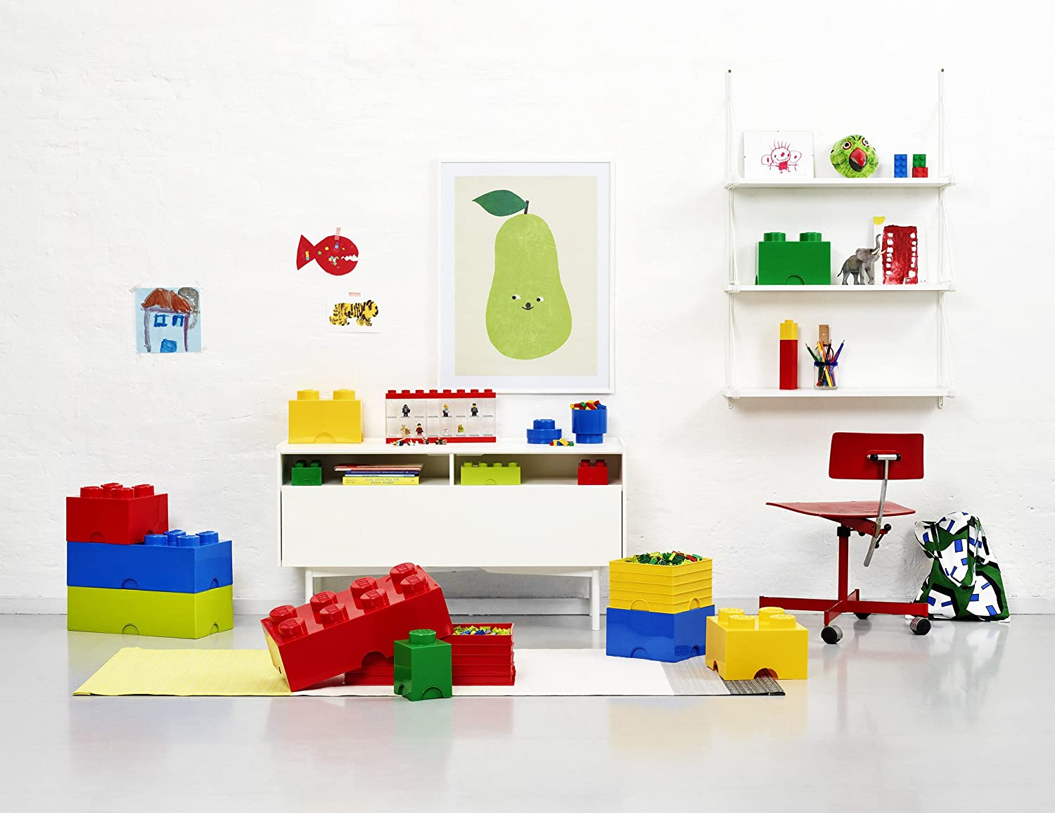 sc 1 st  Amazon.com & Amazon.com: LEGO Storage Brick 4 Blue: Room Copenhagen: Toys u0026 Games