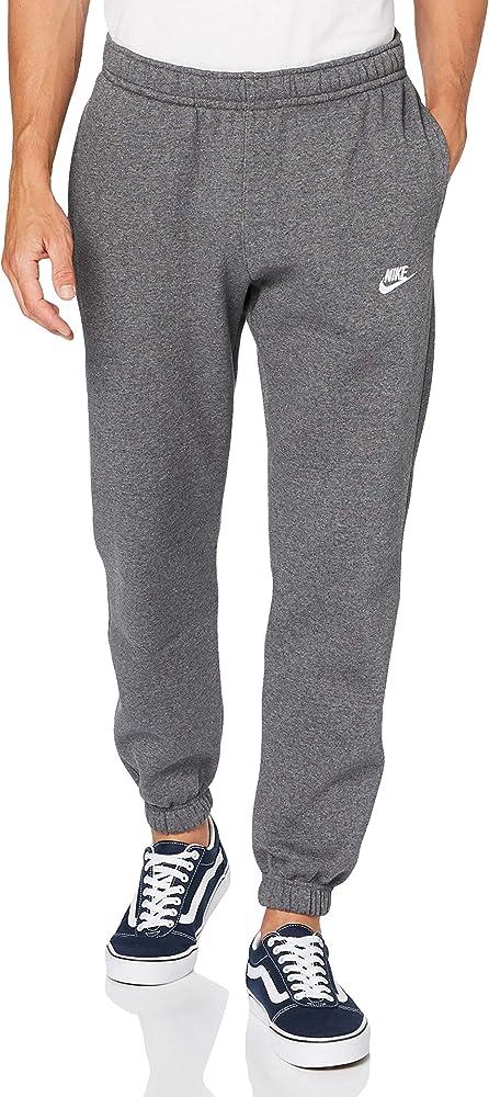 NIKE M NSW Club Pant CF BB Pantalones de Deporte, Hombre, Charcoal Heathr/Anthracite/(White), XS: Amazon.es: Deportes y aire libre