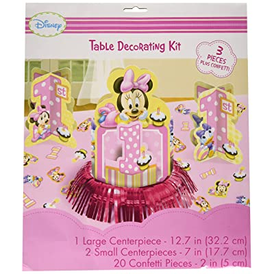 Disney Minnie 1st Birthday Value Table Decorating Kit: Kitchen & Dining