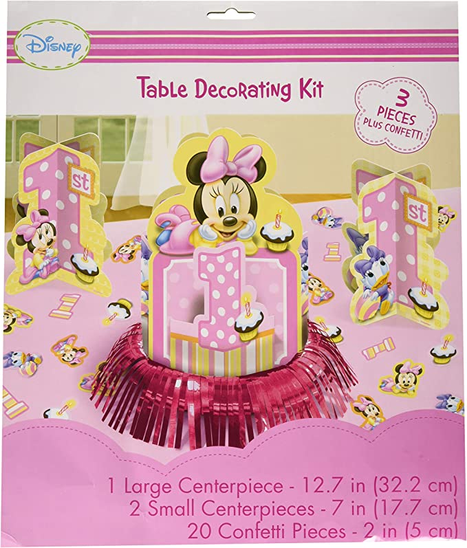 Disney Minnie 1st Birthday Value Table Decorating Kit