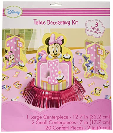 Peachy Disney Minnie 1St Birthday Value Table Decorating Kit Best Image Libraries Sapebelowcountryjoecom