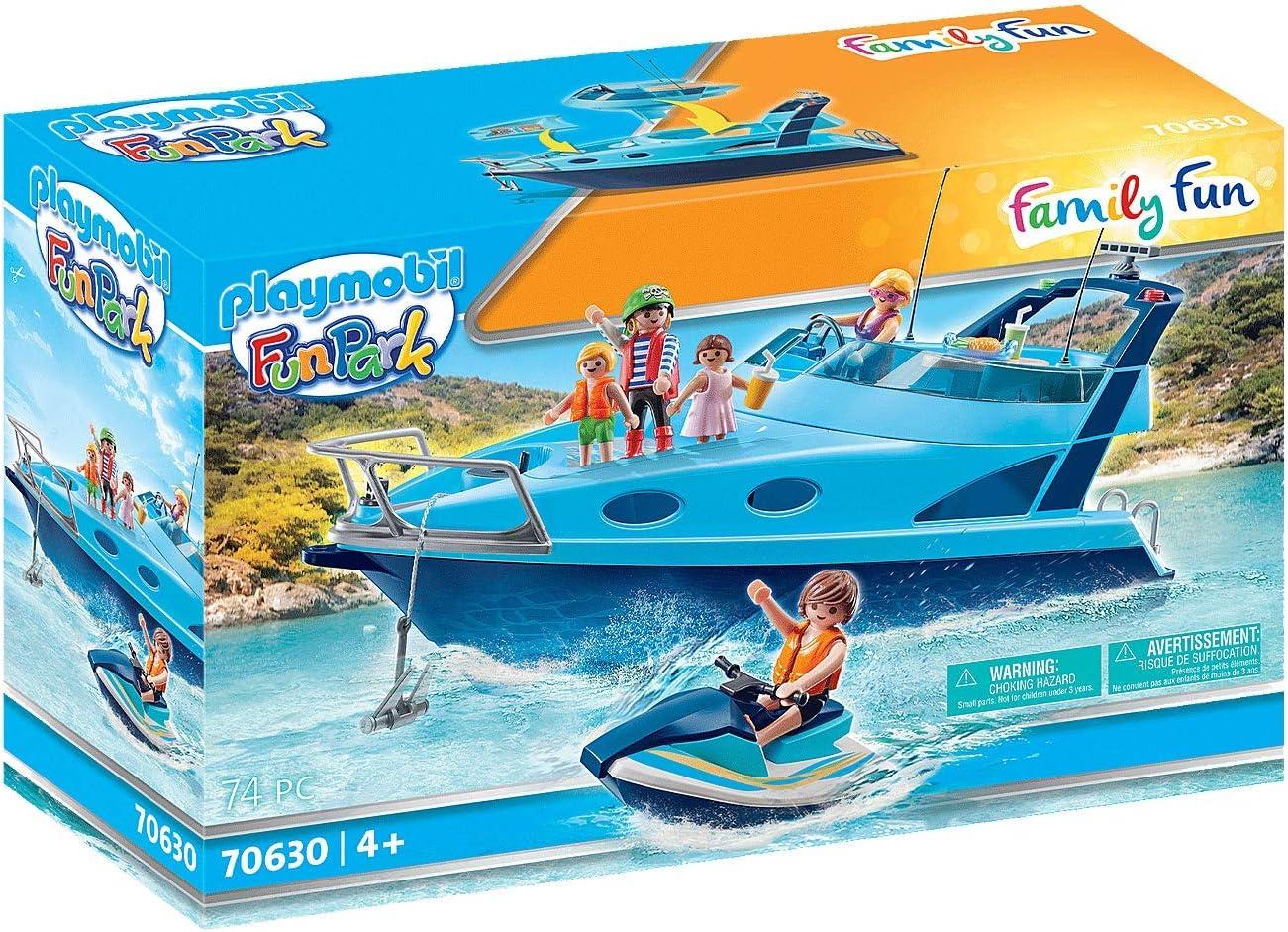 PLAYMOBL-FunPark 70630 - Yate con Moto de Agua