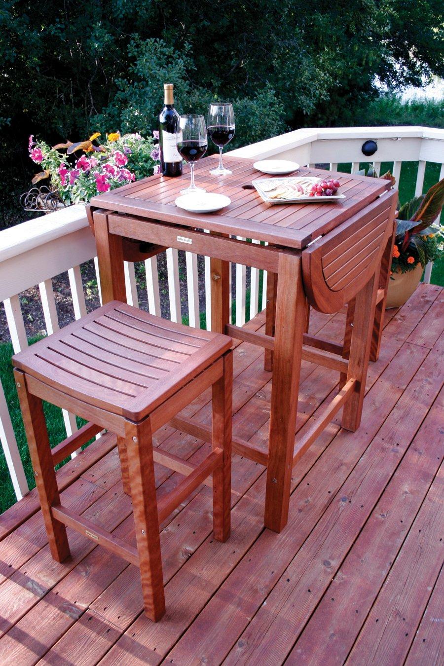 Delightful Amazon.com : Patio Pub Height Super Stool, 2 Pack : Folding Patio Chairs :  Garden U0026 Outdoor