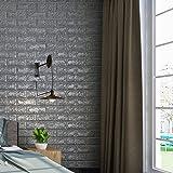 kinlo sticker 3d brique mural autocollant 5pcs 77 x 70 cm. Black Bedroom Furniture Sets. Home Design Ideas