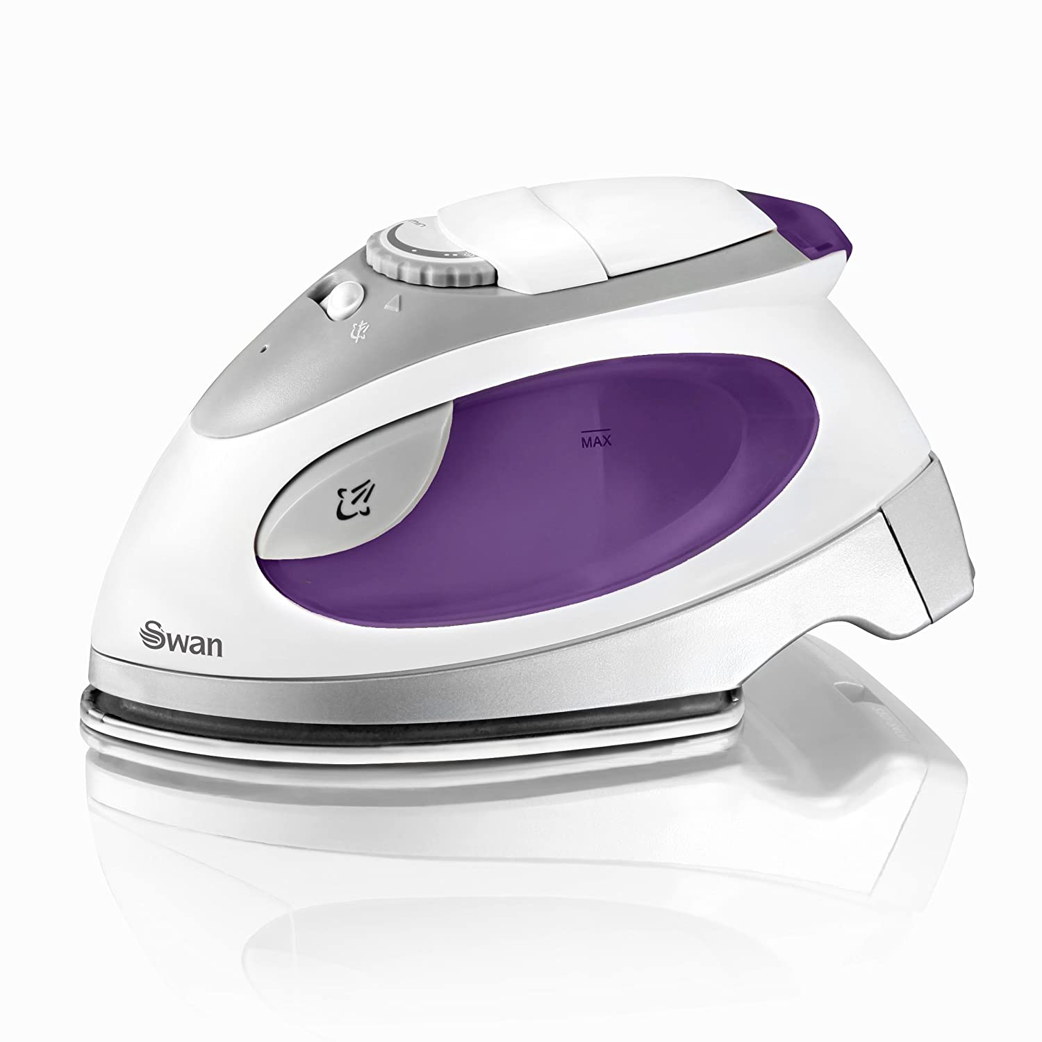 Swan SI3070N Travel Iron with Pouch, Variable Temperature Control, 900W, Purple