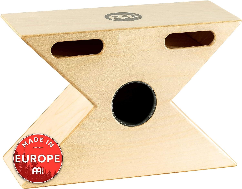 Meinl Hybrid Slaptop Cajon Box Drum with Snare and Bongo MADE IN EUROPE Forward Sound Ports Baltic Birch Wood HTOPCAJ3NT 2-YEAR WARRANTY