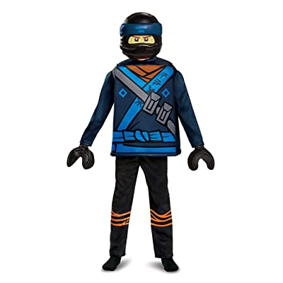 Disguise Jay Lego Ninjago Movie Deluxe Costume, Blue, Large (10-12): Toys & Games