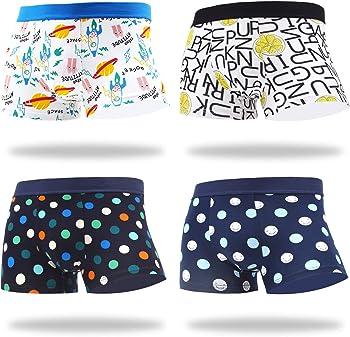 4-Pack Makabo Men's Novelty Colorful Cotton Pattern Underwear