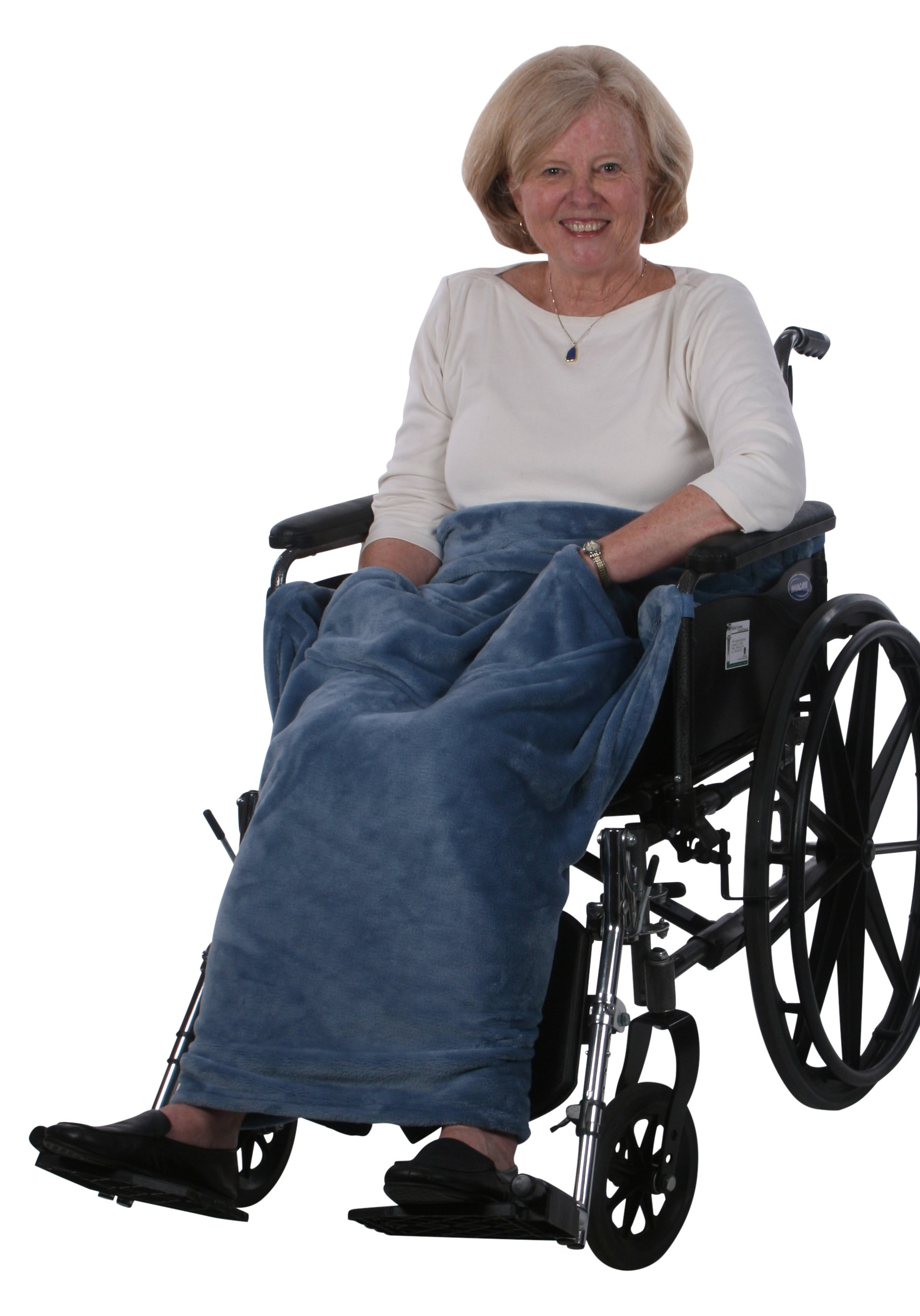 Granny Jo Products Lightweight Wheelchair Blanket, Wedgwood Blue by Granny Jo Products