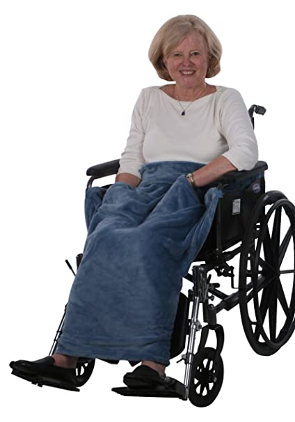 Review Granny Jo Products Lightweight Wheelchair Blanket, Wedgwood Blue