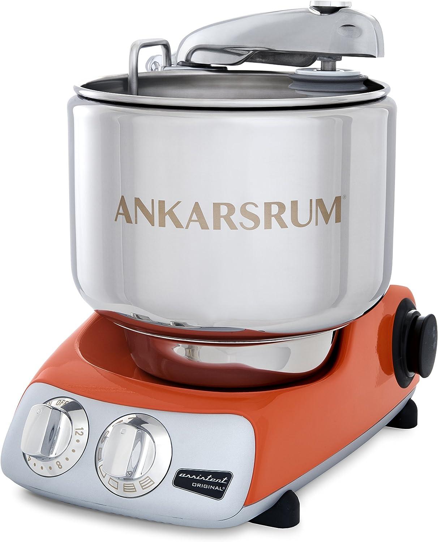 Ankarsrum Original 6230 Orange and Stainless Steel 7 Liter Stand Mixer