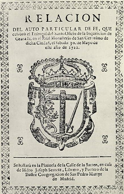 Amazon.com: Posterazzi Notice Concerning an Auto De Fe Granada 1722 ...