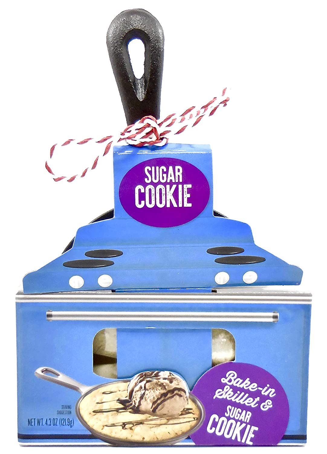 Sugar Cookie Bake-in Skillet,Mini Cast Iron Skillet, Mix,Directions