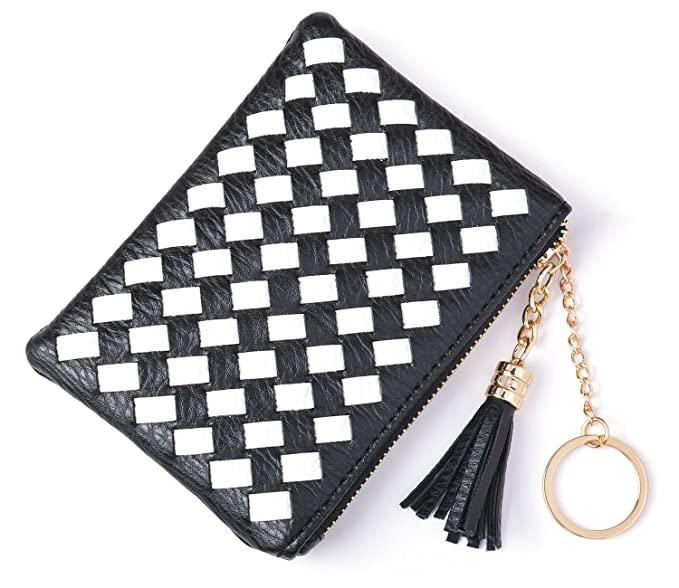 6029cf938a0d MUUHOO Coin Purse for Women Card Cash with Key Ring & Leather ...