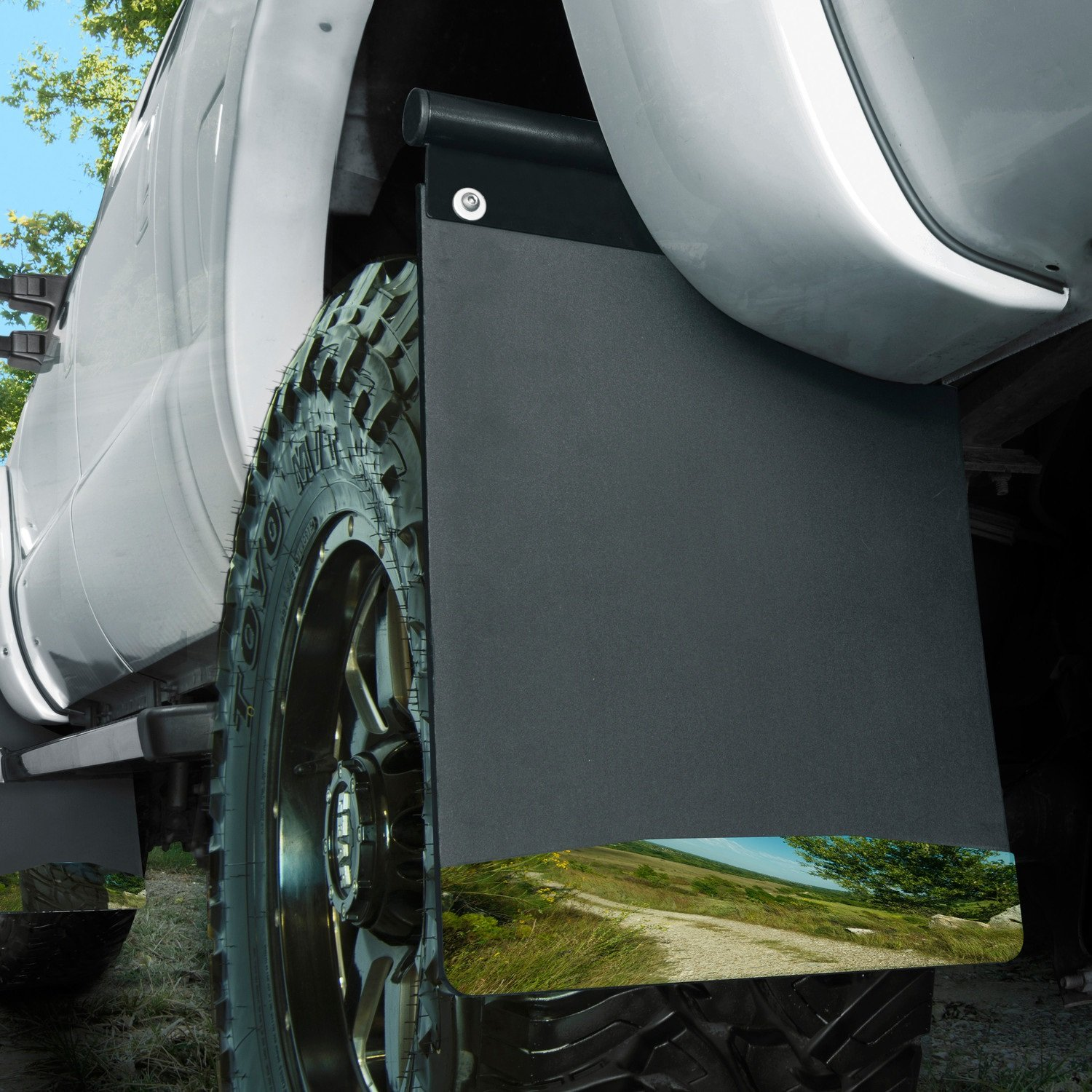 Universal Husky Liners Removable Mud Flaps 14IN SS Wt