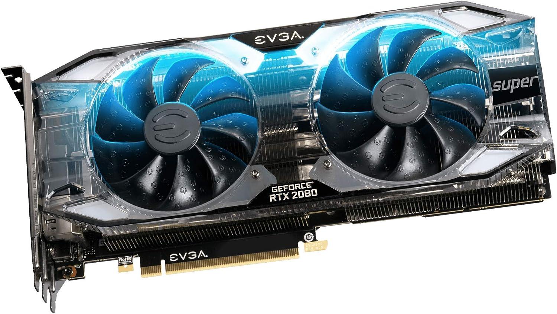 EVGA GeForce RTX 2080 SUPER XC ULTRA, OVERCLOCKED, 2.75 Slot Extreme Cool Dual, 70C Gaming, RGB, Metal Backplate, 08G-P4-3183-KR, 8GB GDDR6