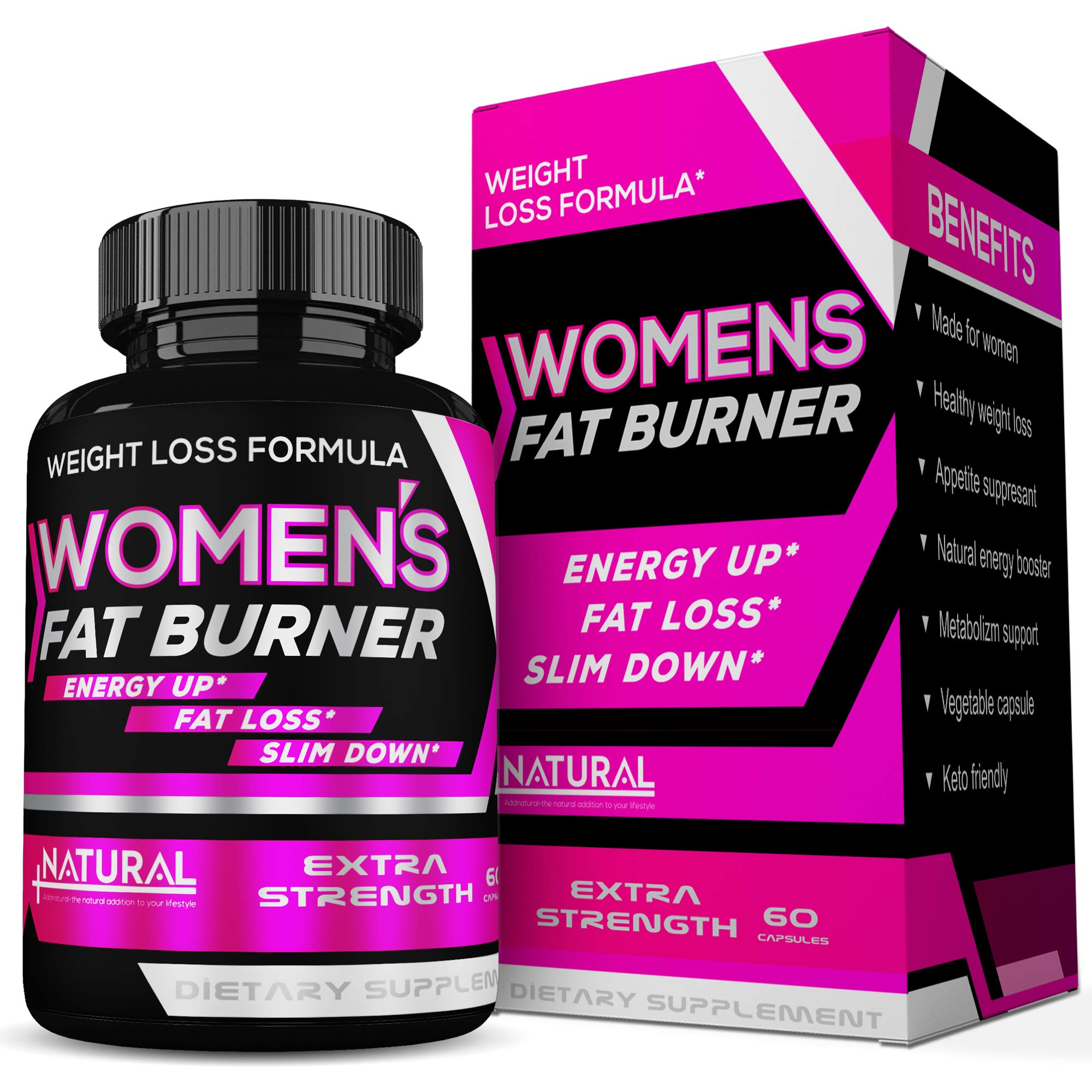 Fat Burner Thermogenic Weight Loss Diet Pills That Work Fast for Women 6 - Weight Loss Supplements - Keto Friendly- Carb Blocker Appetite Suppressant by Addnatural