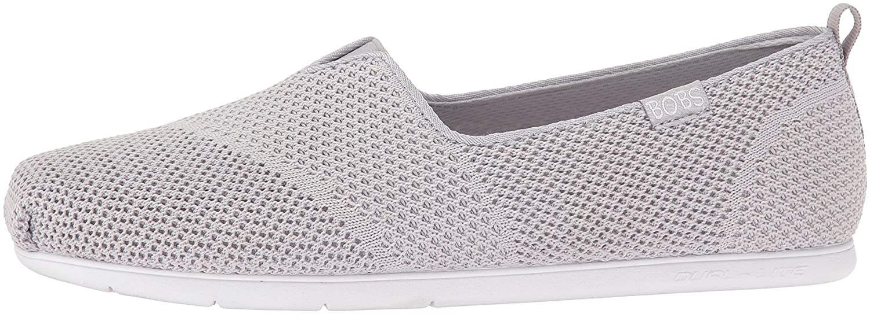 Skechers BOBS from Women's Plush Lite Flat B01EBDSOWC 7 B(M) US|Gray